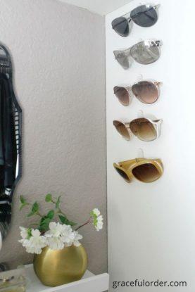 Sunglasses on Command hooks