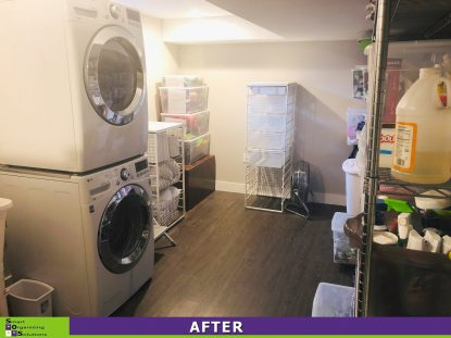 Overloaded Laundry Room After