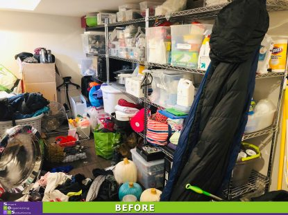 Overloaded Laundry Room Before
