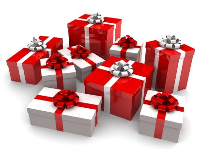 3d rendered illustration of some christmas gifts